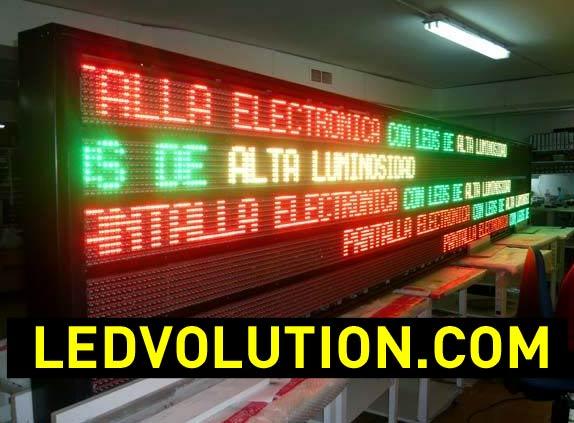 Carteles electrónicos de leds