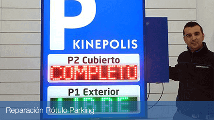 Reparación Rótulo de Parking