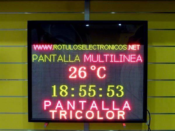 Oferta de Pantalla Multilínea de interior 98x84 cm. y 192x128 px