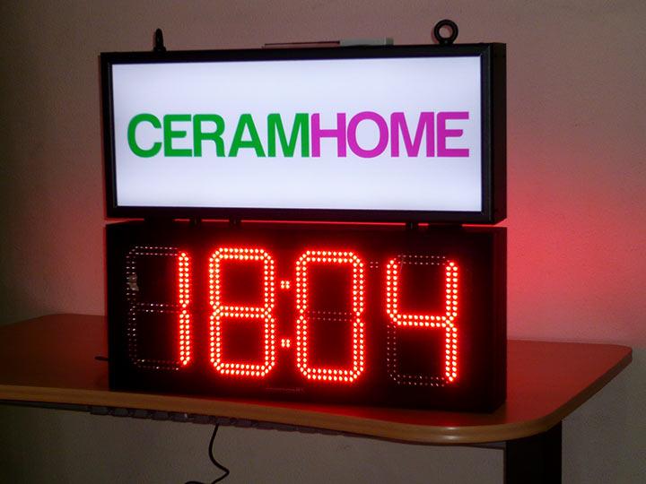 Carteles y letreros luminosos de leds con relojes de hora y temperatura